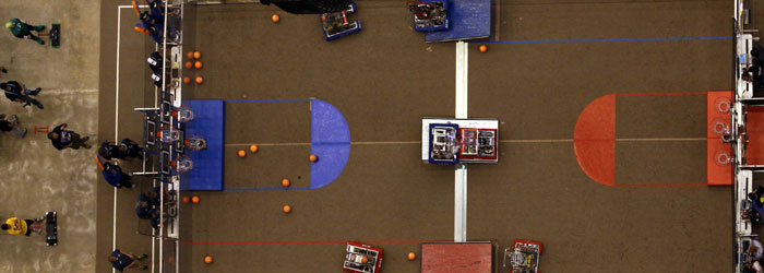 Rebound Rumble Field from Above